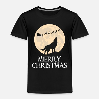 Wolf Merry Christmas wolf moon - Toddler Premium T-Shirt
