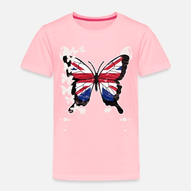 Jack Butterfly Union Jack - Toddler Premium T-Shirt