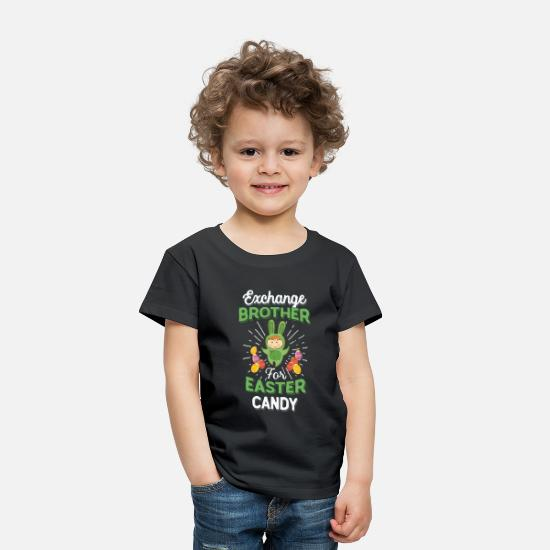 Easter Bunny Baby Clothing - Exchange Brother Easter Candy Toddlers - Toddler Premium T-Shirt black