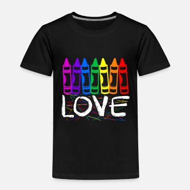 Pride Rainbow Crayons Love kids drawing gift - Toddler Premium T-Shirt