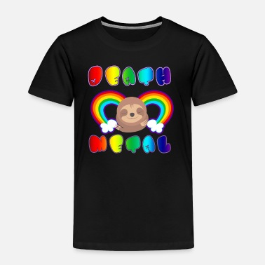Metal Rainbow Death Metal Sloth - Toddler Premium T-Shirt