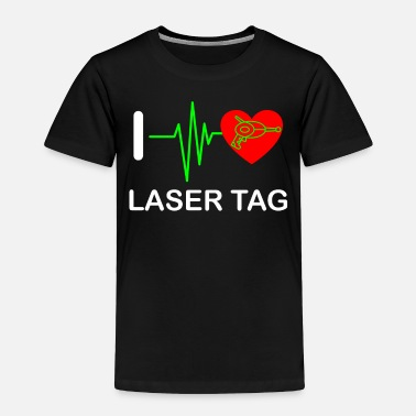 Tag Funny Laser Tag Party TShirt Mode On I love laser - Toddler Premium T-Shirt