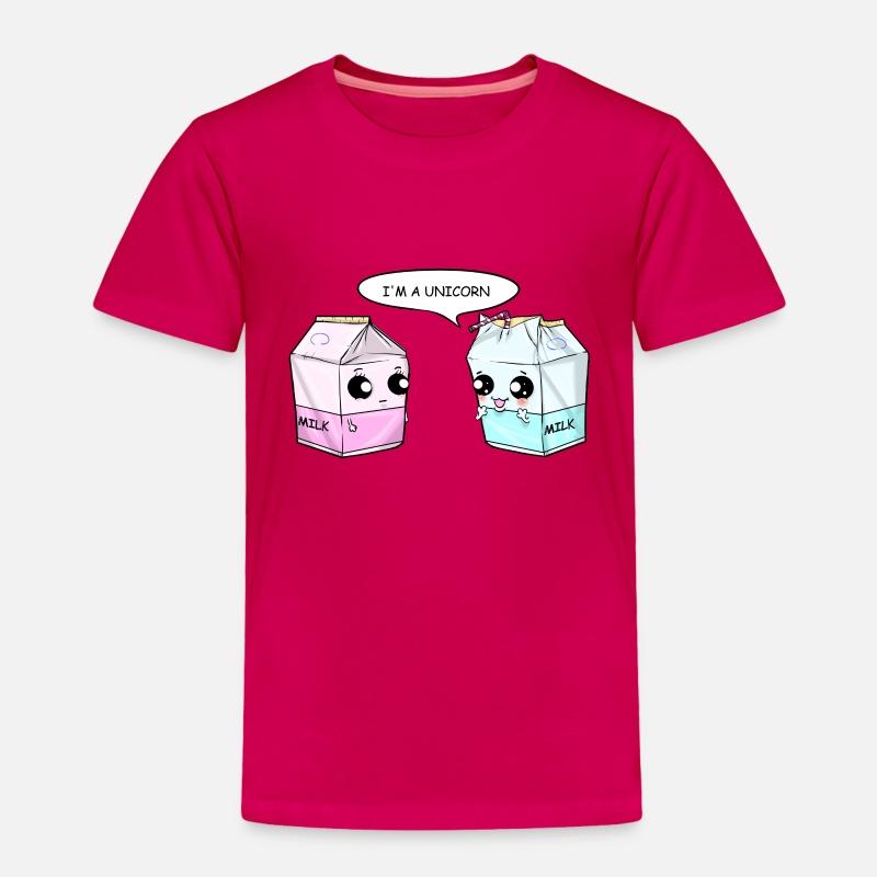 9a56a17d Unicorn Milk Bags Kawaii Comic Drinking Straw Gift Toddler Premium T-Shirt  | Spreadshirt