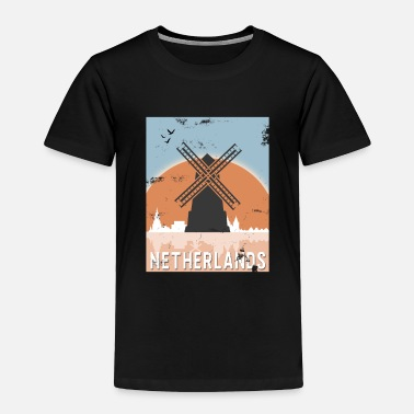 Netherlands Netherlands Windmill Gift Christmas Birthday - Toddler Premium T-Shirt