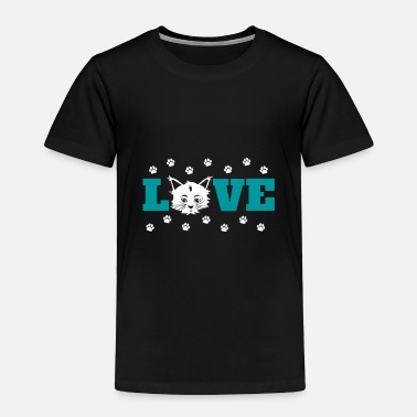 Loud Love Cat Gift Christmas Birthday Kids Present - Toddler Premium T-Shirt