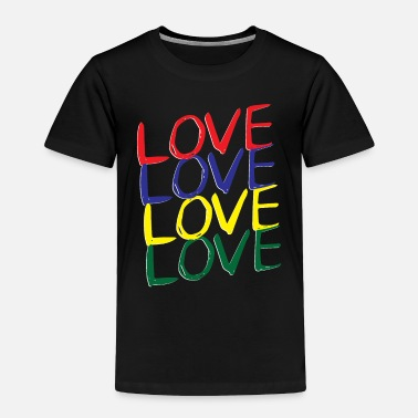 Bright Colours Love Love - Love lettering Colourful colours - Toddler Premium T-Shirt