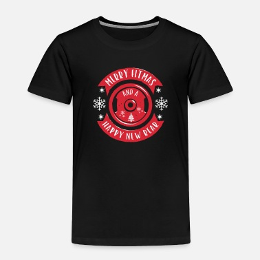 Kettlebell Merry Fitmas and A Happy New Rear Christmas Gym - Toddler Premium T-Shirt
