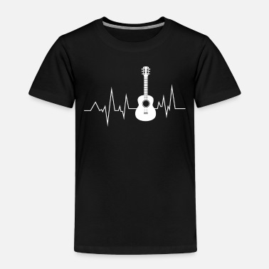 Electric Guitar Guitar Heartbeat is Life Funny Gift Idea - Toddler Premium T-Shirt