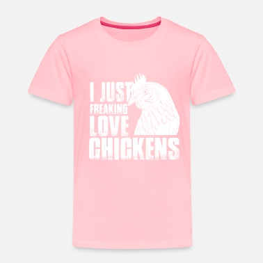 Rooster Chicken love farm animal poultry - Toddler Premium T-Shirt