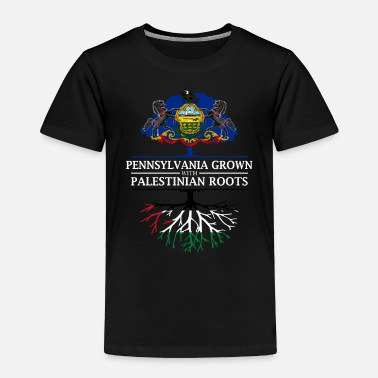 Palestinian Pennsylvania Grown with Palestinian Roots - Toddler Premium T-Shirt