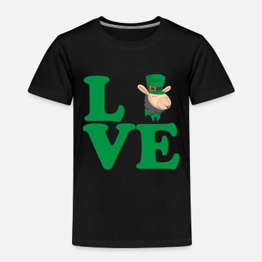 Celtic St. Patrick's Day Gift Llama Alpaca Love - Toddler Premium T-Shirt