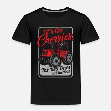 Farmer Agriculture Shirt - Farm - Cherries - Toddler Premium T-Shirt