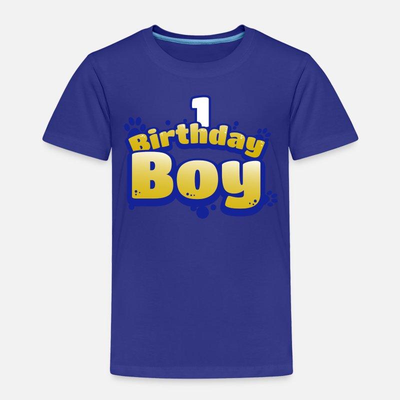 Birthday Boy 1 Year Old Shirt Toddler Premium T