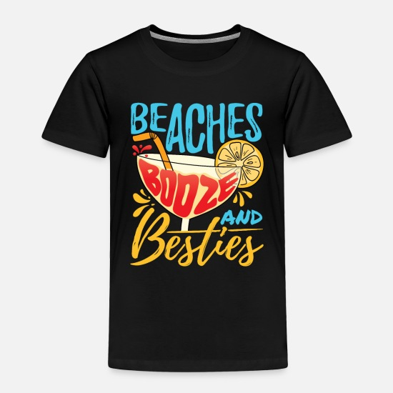 Heather Womens Beaches And Booze Tshirt Funny Summer Drinking Tee For Ladies