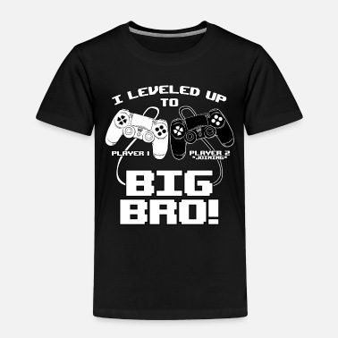 Announcement I Leveled Up To Big Bro - Toddler Premium T-Shirt