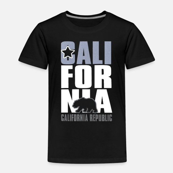 Los Angeles Baby Clothing - CALIFORNIA REPUBLIC - Toddler Premium T-Shirt black