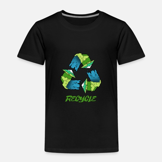 Green Baby Clothing - Earthday Recycle - Toddler Premium T-Shirt black
