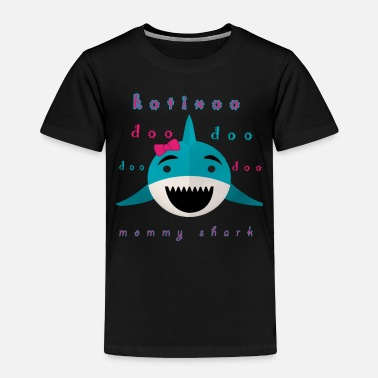 Short mommy shark shirt in kotixoo - Toddler Premium T-Shirt