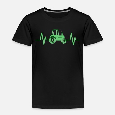 Green Farming Tractor design, Heartbeat Green Tractor, - Toddler Premium T-Shirt