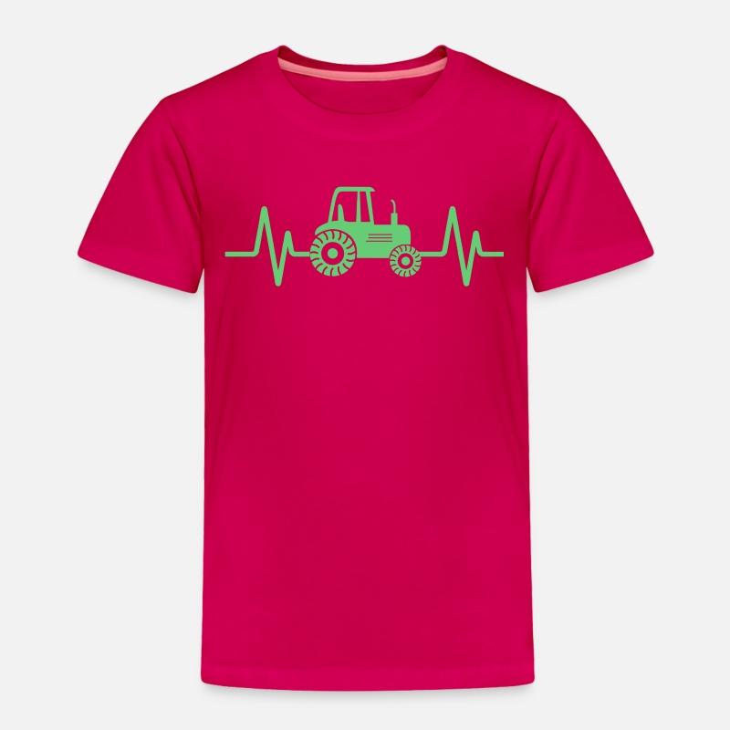 ff226edf Farming Tractor design, Heartbeat Green Tractor, Toddler Premium T-Shirt |  Spreadshirt