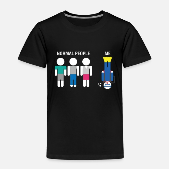 Gift Idea Baby Clothing - Normal People Vs. Me Diver Design Cool Gift Idea - Toddler Premium T-Shirt black