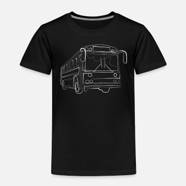 Transportation Bus driver - one line drawing - Toddler Premium T-Shirt