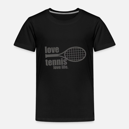 Life Baby Clothing - Love tennis, love life - Toddler Premium T-Shirt black