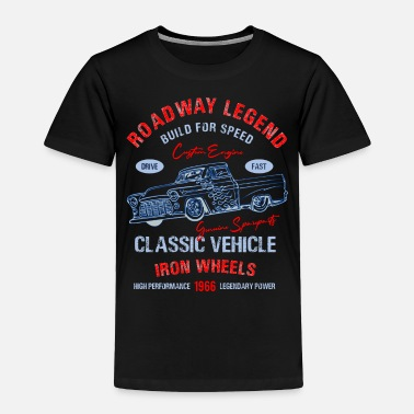 Speedway Classic Vehicle Iron Wheels Mojo Design Tee - Toddler Premium T-Shirt