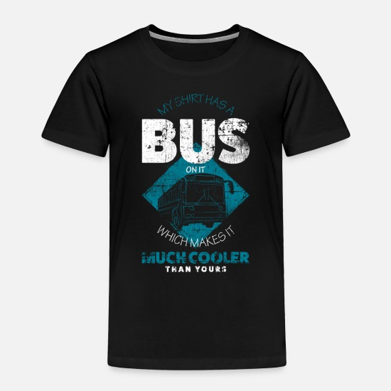 Bus Baby Clothing - Bus driver - Toddler Premium T-Shirt black