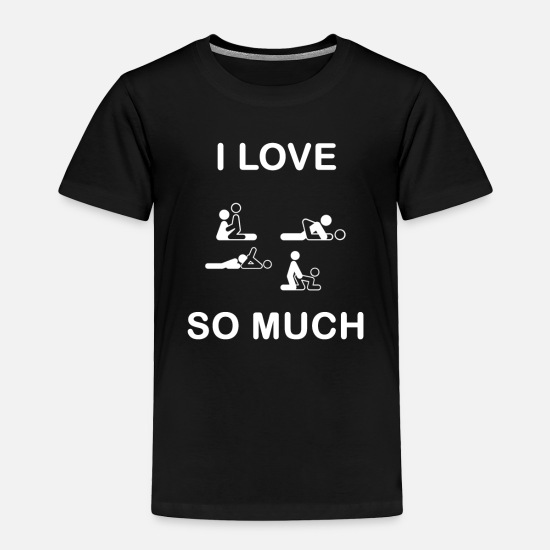 Machine Baby Clothing - Sex Fucking intercourse - Toddler Premium T-Shirt black