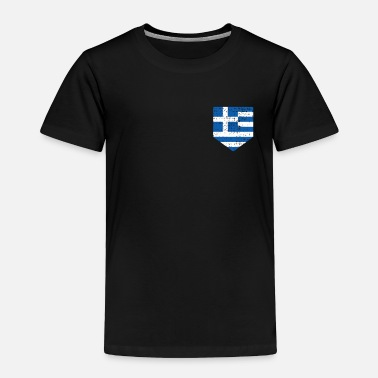 Roots Greece Greek National Flag - Toddler Premium T-Shirt