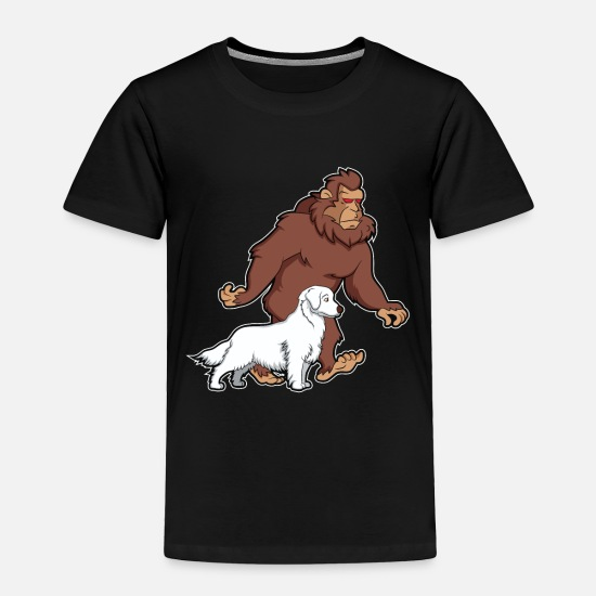 Funny bigfoot sasquatch dog puppy gift yeti Toddler Premium T-Shirt