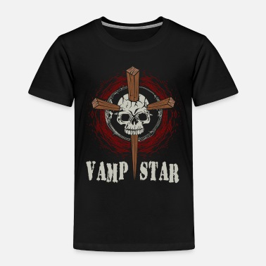 Skull And Bones Skull Vampstar Halloween Costume - Toddler Premium T-Shirt