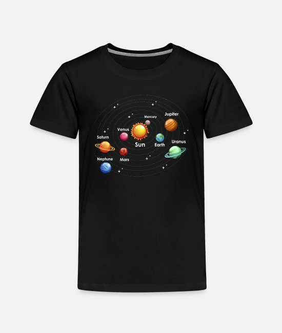 Missile T-Shirts - Planets Galaxy - Toddler Premium T-Shirt black