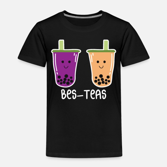 Sports Baby Clothing - Bestfriends Tea Bubbletea Love Food Gift T-Shirt - Toddler Premium T-Shirt black