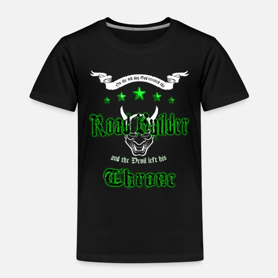 Road Baby Clothing - Road Builder - Toddler Premium T-Shirt black