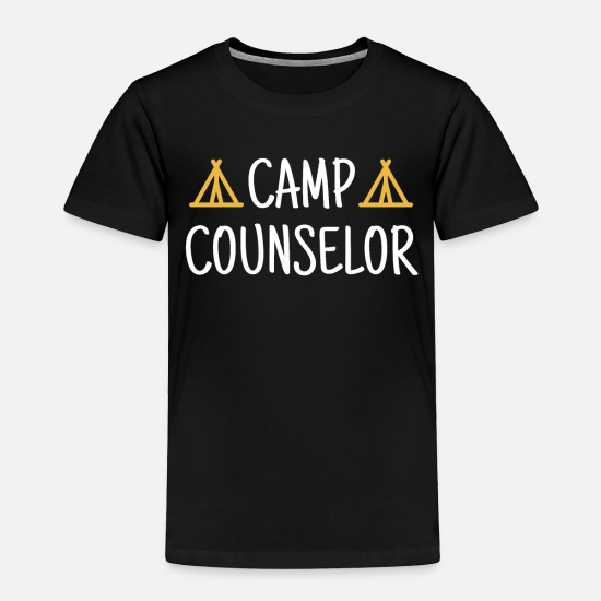 Camping Baby Clothing - Camp Counselor Gift Camping Summer Nature Outdoors - Toddler Premium T-Shirt black