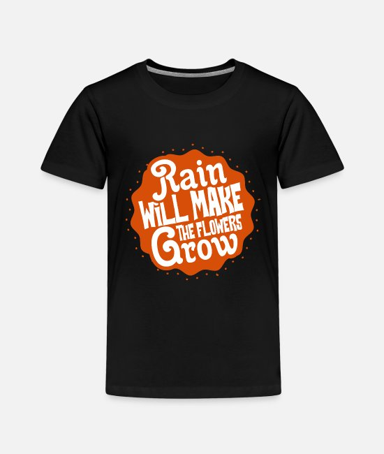 Rain Baby Clothing - Rain - Toddler Premium T-Shirt black