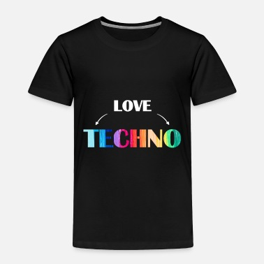 Turntable Music love Techno - Toddler Premium T-Shirt