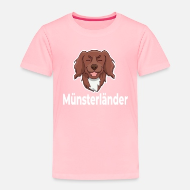 Wait Munsterlander Dog Happy Smiling - Toddler Premium T-Shirt