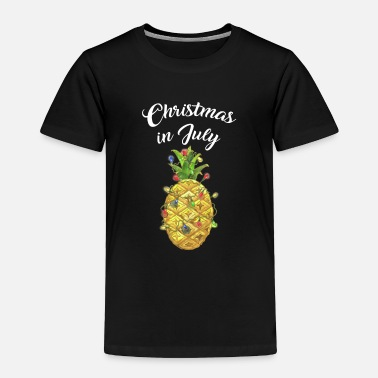 Elf Christmas In July Pineapple Xmas Tree Lights - Toddler Premium T-Shirt