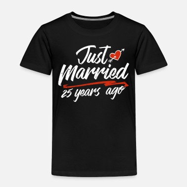Gold Just Married 25 Year Ago Funny Wedding - Toddler Premium T-Shirt