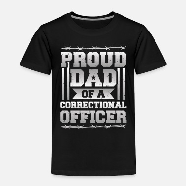 Grey Proud Dad Corrections Officer Thin Silver Line - Toddler Premium T-Shirt