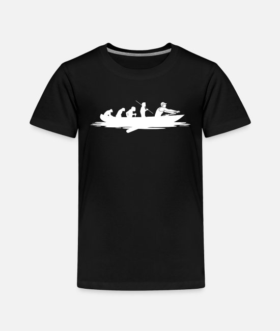 Stand T-Shirts - Rowing Evolution Shirt Gift Rowers - Toddler Premium T-Shirt black