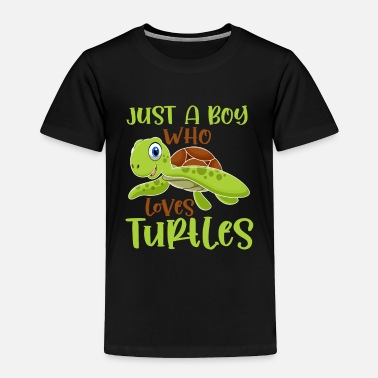 Crocodiles Turtle loving Boy Reptile lover Kid Tortoise Fan - Toddler Premium T-Shirt