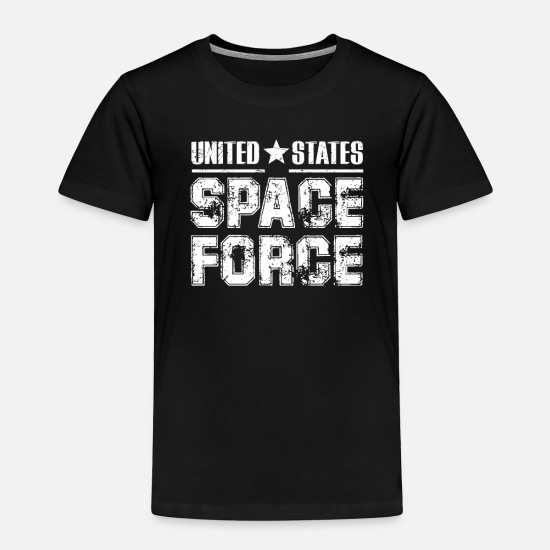 Space Ship Baby Clothing - Space Force Shirt USA Armed Forces Distressed TShi - Toddler Premium T-Shirt black