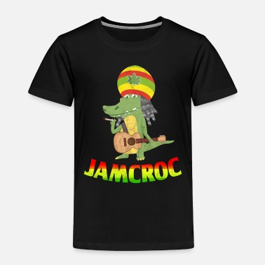 Rasta Reggae music crocodile Jamaica Rasta guitar - Toddler Premium T-Shirt