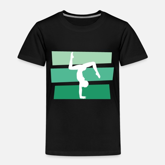 Gymnast Baby Clothing - Gymnast - Toddler Premium T-Shirt black