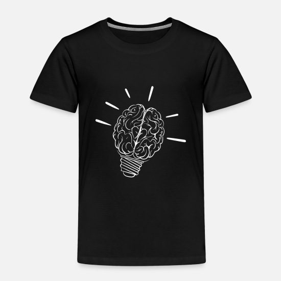 Gift Idea Baby Clothing - Light comes on, brain as light bulb - Toddler Premium T-Shirt black