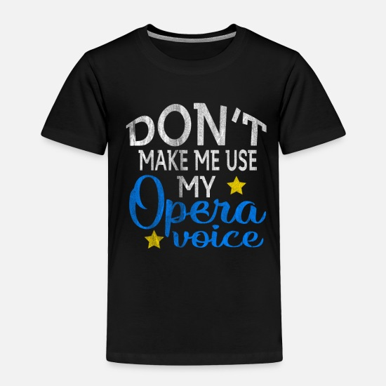 Opera Baby Clothing - Opera Voice - Toddler Premium T-Shirt black
